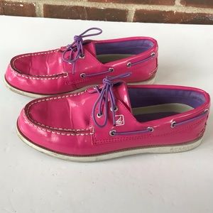 💕 Sperry top sider pink boat shoes